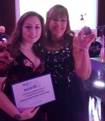 Keri Romano and Joyce Greaves collect First Ark Impact Award